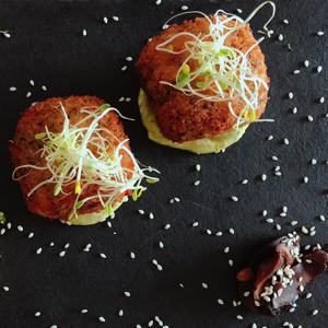 Croquetas Veganas de Mac & Cheese